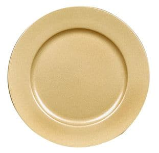 PREMIER AC155415G  33Cm Gold Glitter Charger Plate